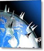 Global Pandemic, Conceptual Artwork Metal Print