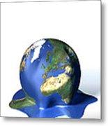 Global Warming, Conceptual Image Metal Print