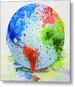 Globe Painting Metal Print