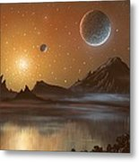Globular Cluster, Artwork Metal Print