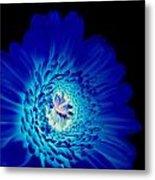 Glow Blue Metal Print