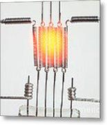 Glowing Filament 3 Of 4 Metal Print