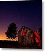 Glowing Shed Metal Print