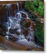 Gnoll Cascades Metal Print by Julie L Hoddinott