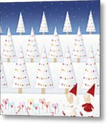 Gnomes - December Metal Print by ©cupofsnowflakes