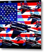 God Bless America Land Of The Free 2 Metal Print by Wingsdomain Art and Photography