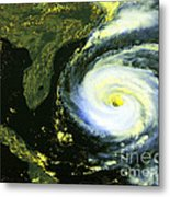 Goes 8 Satellite Image Of Hurricane Fran Metal Print by Science Source