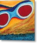 Goggles In The Sand Metal Print