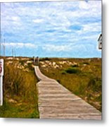 Going To The Beach Metal Print