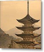 Goju-no-to Pagoda Metal Print by Karen Walzer