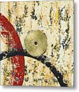 Gold And Silver 1 Metal Print