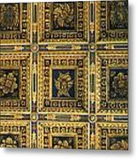 Gold Cathedral Ceiling Italy Metal Print