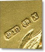Gold Hallmarks, 1897 Metal Print by Sheila Terry