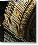 Gold Inlay Arches St. Peter's Basillica Metal Print