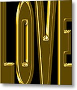 Gold Love Metal Print