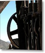 Gold Mining Stone Crusher Metal Print