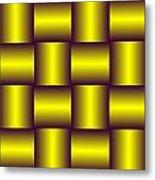 Gold Pattern A   Metal Print