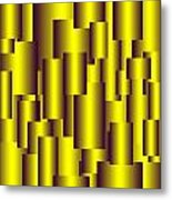 Gold Pattern B   Metal Print