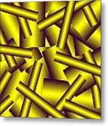 Gold Pattern C   Metal Print