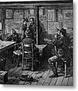 Gold Rush: Miners, 1887 Metal Print