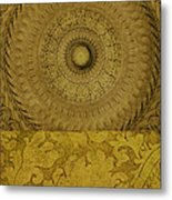 Gold Wheel I Metal Print