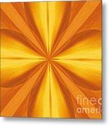 Golden 4 Leaf Clover  Metal Print