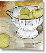 Golden Apples Metal Print