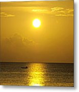 Golden Bahamas Sunset Metal Print