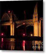 Golden Bridge Metal Print