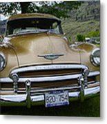 Golden Chevy Metal Print