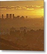 Golden City Metal Print