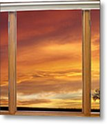 Golden Country Sunrise Window View Metal Print by James BO  Insogna