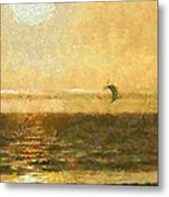 Golden Day Painterly Metal Print