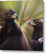 Golden Eagles Metal Print