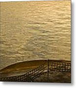 golden evening light on a Washington state ferry Metal Print