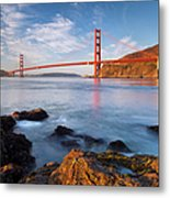 Golden Gate At Dawn Metal Print