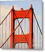 Golden Gate Bridge - Nothing Equals Its Majesty Metal Print