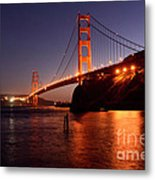 Golden Gate Bridge At Night 2 Metal Print