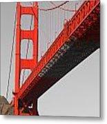 Golden Gate Bridge-touch Of Color Metal Print