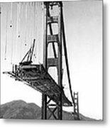 Golden Gate Bridge Work Metal Print