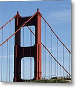 Golden Gate North Tower Metal Print