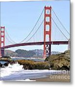 Golden Gate On A Sunny Day Metal Print