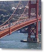 Golden Gate Traffic Metal Print