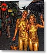 Golden Girls Of Bourbon Street  Metal Print