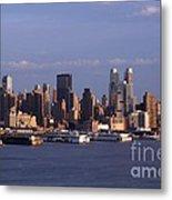 Golden Glow Of New York City Metal Print
