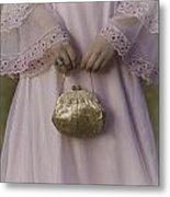 Golden Handbag Metal Print