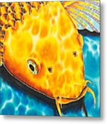 Golden Koi Metal Print
