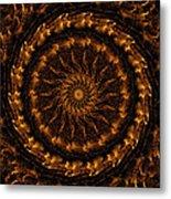Golden Mandala 1 Metal Print