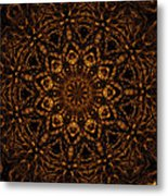 Golden Mandala 4 Metal Print