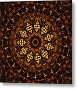 Golden Mandala 6 Metal Print